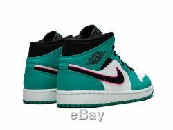 Nike Air Jordan 1 MID Se South Beach Vert Rose 852542 306 Taille Multiple