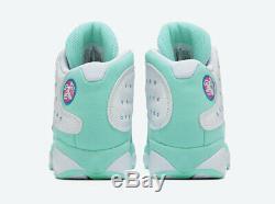 Nike Air Jordan Retro 13 XIII Soar Blanc Vert Rose 439358-100 Femmes Gs Sz 1c-7y