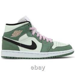 Nike Air Jordan Retro 1 MID Dutch Green Mint Pink (w) Cz0774-300 Sz 6 -11