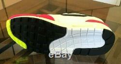 Nike Air Max 1 Blanc Noir Volt Vert Rush Rose Fuchsia Ah8145-111 Taille Homme 9