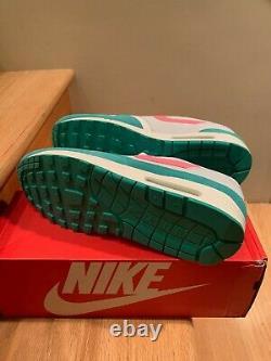 Nike Air Max 1 Watermelon Summit White Kinetic Green Pink Sz 13 2018