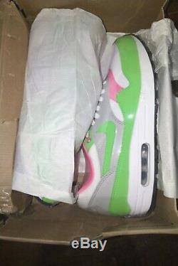 Nike Air Max 1'electric Vert / Rose '308866-100 Us Taille 10 Sortie En 2010