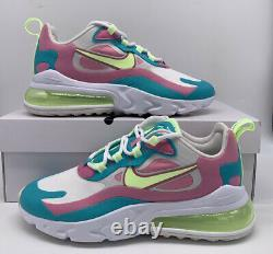 Nike Air Max 270 React Chaussures Taille Femme Cw7015-100 White Volt Vert Rose