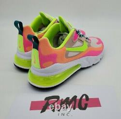 Nike Air Max 270 React Rose Pink Ghost Green Dc1863-600 Chaussures Pour Femmes Taille 8