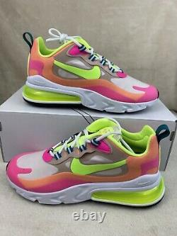 Nike Air Max 270 React Rose Rose Ghost Vert Dc1863-600 Chaussures Femmes Taille 7.5