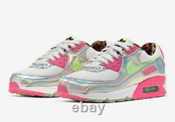 Nike Air Max 90 LX Blanc / Rose / Illusion Vert Cq2559 100 Uk 6, 7