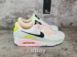 Nike Air Max 90 Pastel De Pâques Blanc Vert Rose Cz1617-100 Taille Femme 7.5