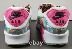 Nike Air Max 90 Sneakers Femmes Taille 9 Laser Fuchsia Illusion Vert Blanc Rose