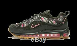 Nike Air Max 98 Femmes Camo Vert Floral Noir Rose Imprimer Aq6468-300 Sz 6 7 8.5