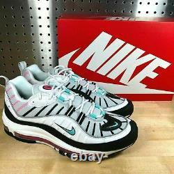 Nike Air Max 98 South Beach White Black Pink Green Shoes (ah6799-065)