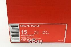 Nike Air Max 98 Taille 15 640744-005 Retro Og South Beach Bleu Rose Marine Vert