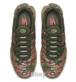 Nike Air Max Plus C Digi Camo Neutral Olive Green Pink Size 11 Aj4858-200 Homme