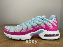 Nike Air Max Plus Gs Chaussures De Course White Pink Mint Green Size 5y 718071 102