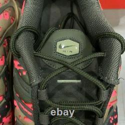 Nike Air Max Plus Tn Homme Taille 13 Digi Camo Neutre Olive Vert Rose Aj4858-200