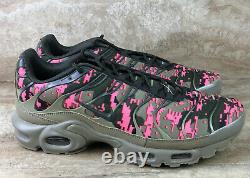 Nike Air Max Plus Tn Hommes Chaussures Digi Camo Neutre Olive Green Pink Sneakers