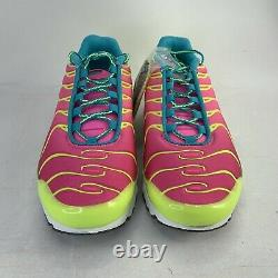 Nike Air Max Plus Volt Green Pink Blast Cw5840-700 Garçon 5.5y /taille Des Femmes 7