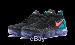 Nike Air Max Vapormax Flyknit 2 Noir Hot Punch Vert Rose Violet 942842-003 Hommes