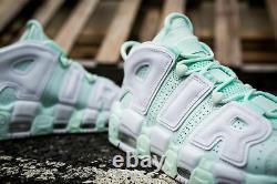 Nike Air More Uptempo Mint Barely Pink Green Women'sz Us 8 Royaume-uni 5,5 Eur 39 Nouveau