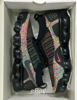 Nike Air Vapormax Flyknit 2942842-01 En Cours Vert Rose Noir Chaussures Hommes Sz 10,5