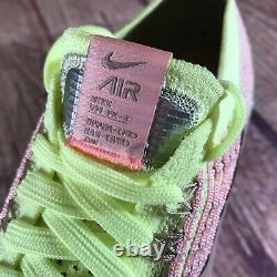 Nike Air Vapormax Flyknit 3 Rose/vert Lime/vapor Jaune Aj6910-700 Wmns Sz 5