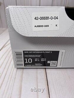 Nike Air Vapormax Flyknit 3 South Beach Homme Taille 10 Vert Rose Noir Aj6900 323