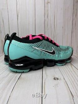 Nike Air Vapormax Flyknit 3 South Beach Hommes Taille 13 Vert Rose Noir Aj6900 323