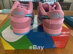 Nike Dunk Low Sb Greatful Mort Vert Rose Ours Bleu Dans La Main! Livraison Gratuite