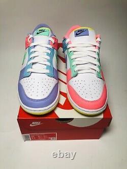 Nike Dunk Low Se Candy De Pâques Pour Femmes Nouvelle Taille 10 Blanc/vert/pink Dd1872-100