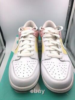 Nike Dunk Pâques Femmes Taille 11.5 = Taille Masculine 10 Blanc Olive Vert Rose Jaune
