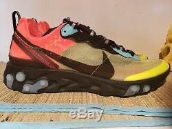 Nike Element 87 React Aq1090-700 Volt Aurora Vert Racer Rose Taille Homme 12