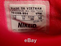 Nike Kd VII 7 ID Noir Rose Vert Menthe Yeezy Kevin Durant Sz 12 (704380-994)