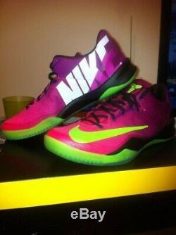 Nike Kobe 8 Système Mambacurial 615315-500 Prune Rouge / Vert Électrique-rose Flash