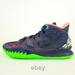 Nike Kyrie 7 Samurai Ky Midnight Bleu Marine Vert Rose Cq9326-401 Taille 10 Pas De Limace