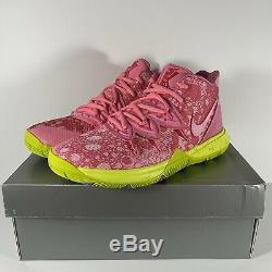 Nike Kyrie Irving 5 Patrick Lotus Rose Vert Spongebob Cj7227-600 Hommes, Taille Kid