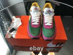 Nike LD Waffle Sacai Taille Us 7.0 Chaussures Hommes Pin Vert / Rose