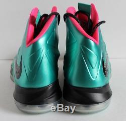 Nike Lebron 10 X ID James Collection Diamond Green-blak-rose Sz 12,5 578346-992