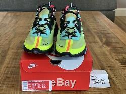 Nike React Element 87 Volt Aurora Vert Rose Aq1090 700 Taille Men 10.5 Nouveau