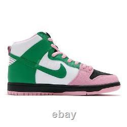 Nike Sb Dunk High Pro Prm Celtics Noir Inverti Rose Vert Blanc Hommes Cu7349-001