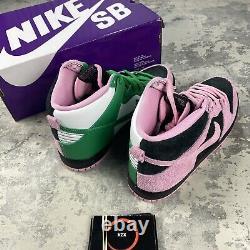 Nike Sb Dunk High Pro Prm Invert Celtics Trainers Uk9/us10/eu44 Cu7349-001