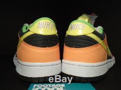 Nike Sb Dunk Low Gs Surligneur Gris Jaune Rose Vert Orange 310569-071 Ds 7y 7