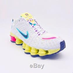 Nike Shox Tl Blanc Pastel Rose Vert Chaussures De Course Ar3566-102 Femmes Taille 8