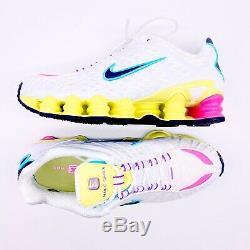 Nike Shox Tl Blanc Pastel Rose Vert Chaussures De Course Ar3566-102 Femmes Taille 8.5