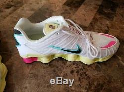 Nike Shox Tl Blanc Pastel Rose Vert Chaussures De Course Ar3566-102 Femmes Taille Us 9