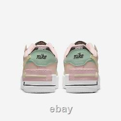 Nike Women's Air Force 1 Low Shadow Rose Crimson Tint Green Glow 2021 Cu8591-601