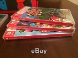 Nintendo Commutateur Bundle + 6 Jeux + Vert / Rose + Joycon Pro Controller (all New)