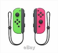 Nintendo Commutateur Joy-con Contrôleur Neon Green (l) Et Rose (r) Splatoon Ed F / S