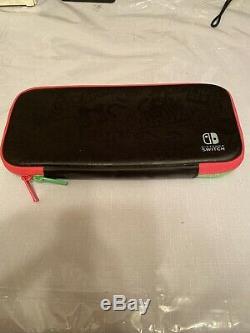 Nintendo Commutateur Splatoon 2 Bundle Neon Pink / Neon Vert Système De Poche Ouverts