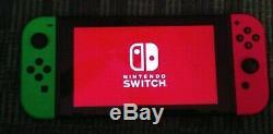 Nintendo Commutateur Splatoon 2 Console Bundle, Vert Et Rose Joy-cons, 2 Jeux Et Case