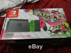 Nintendo Commutateur Splatoon 2 Limited Edition 32go Vert / Rose Avec Le Contrôleur