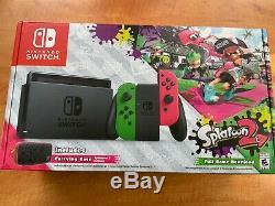 Nintendo Commutateur Splatoon 2 Neon Pink / Neon Vert Système De Poche